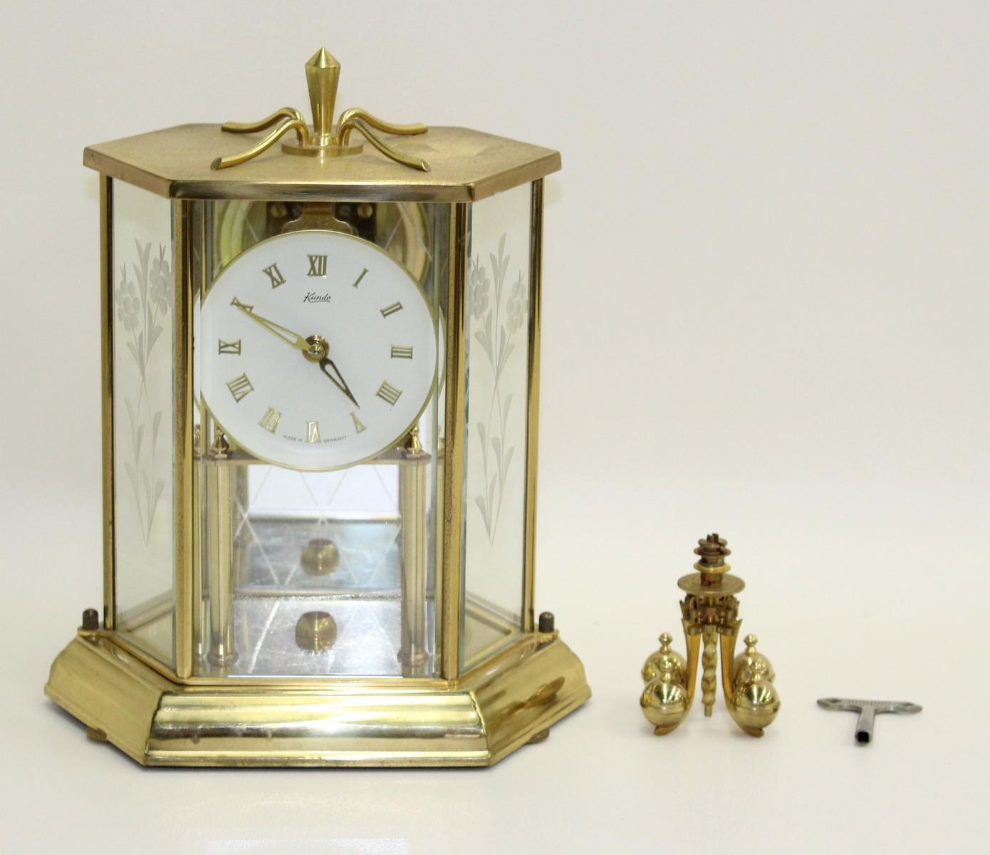 FAULTY KUNDO 400 Day Four Ball Pendulum Anniversary Mantelpiece Clock Timepiece 2