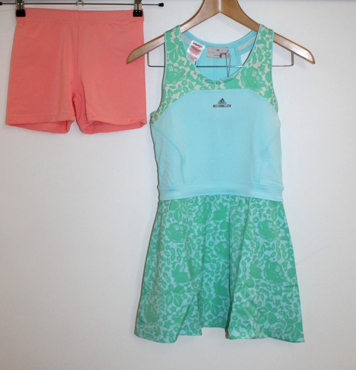 BNWT STELLA MCCARTNEY ADIDAS Girls Baricade Tennis Dress & Shorts 11-12 Yrs. 2